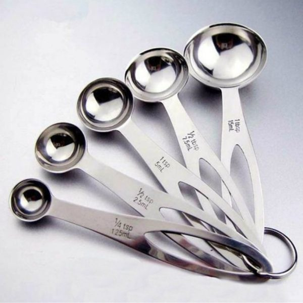Stainless Steel 5 Piece Measuring Spoons